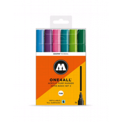 PACK 6 ROTULADORES ONE4ALL HS 4mm