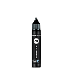 TINTA PERMANENTE BLACKLINER NEGRA 30 ML