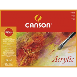 BLOC 10 HOJAS CANSON ACRYLIC 24x32 400 GR